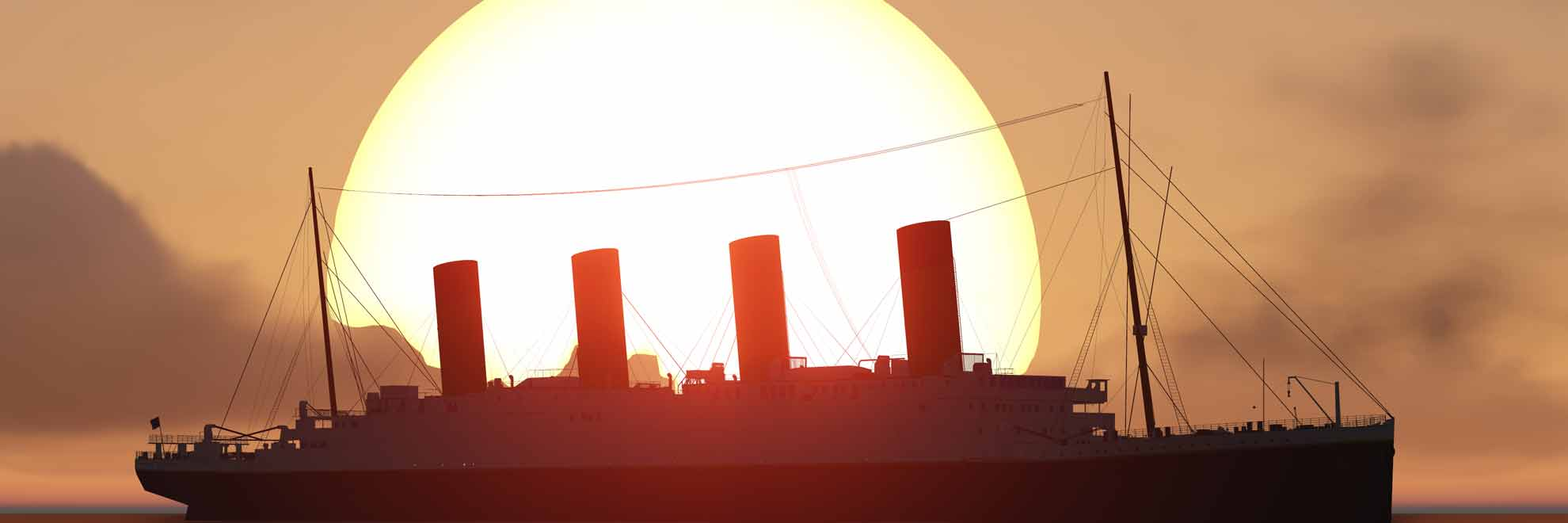 titanic sunset